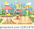Vector illustration of cartoon characters children 32851878