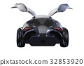 Car concept dark modern, back view 32853920