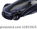 Car concept dark transport, close view 32853925