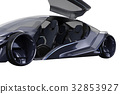 Car concept dark futuristic, close view 32853927