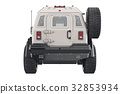 Suv car, back view 32853934