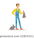 farm, vector, rabbit 32854351