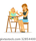 baby, mother, vector 32854400