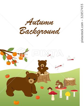秋天 秋 动物 32857455