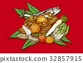 季节 食品 原料 32857915