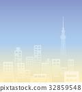 도쿄 빌딩 _ 실루엣 32859548
