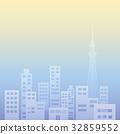 빌딩 단지, 건물 단지, 실루엣 32859552
