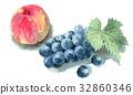 peach, watercolour, watercolors 32860346