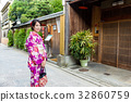 Woman with japanese kimono 32860759