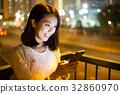night, woman, one 32860970