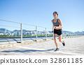 Young Woman enjoy city running 32861185