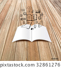 Mock up, book, catalog, magazines with cloud of application. Vector illustration 32861276