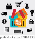 Sale label price tag design. Vector illustration 32861333