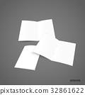 Bifold white template paper. Vector illustration 32861622