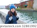 Young woman in Otaru city 32861992