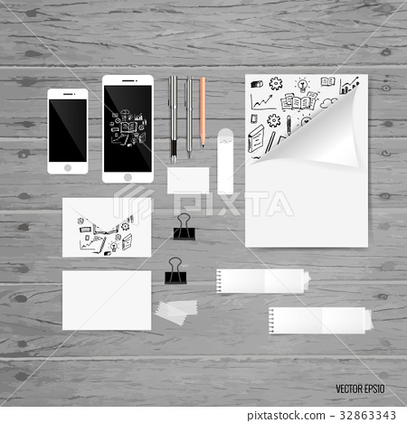 Mock up, book, catalog, magazines with cloud of application. Vector illustration 32863343