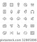 audio, icon, set 32865896