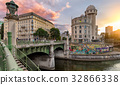 The Danube Canal in Vienna at Night, Austria 32866338