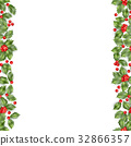 Seamless border from Christmas holly berry. EPS 10 32866357