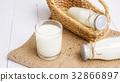milk, glass, bottle 32866897