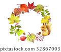 Autumn leaf frame 32867003
