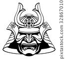 Stylised Samurai Mask  32867010