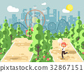 Vector illustration walk stroll promenade boy 32867151