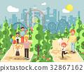 Vector illustration walk stroll promenade boy and 32867162