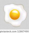 白色 油炸的 雞蛋 32867490