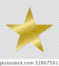 Golden Star On Transparent Background 32867501