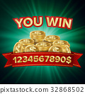 You Win Vector. Jackpot Background. Jackpot Sign 32868502