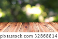 Perspective wood and bokeh light background 32868814