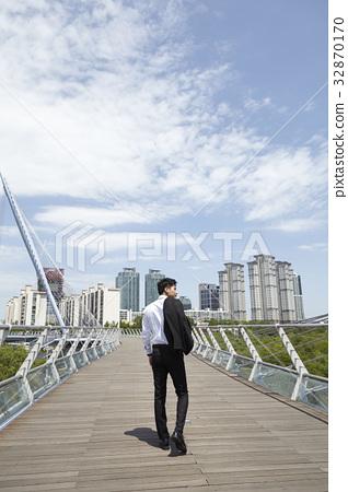 비즈니스맨,샛강다리,여의도,영등포구,서울 32870170