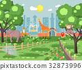 Vector illustration banner landscape, scenery 32873996