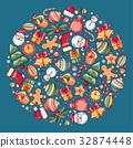 Festive Christmas Greeting Card 32874448
