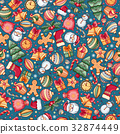 Festive Christmas Seamless Pattern 32874449