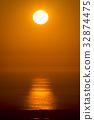 日落在日本海 32874475