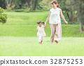모녀 산책 달리기 32875253