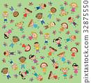 pattern kids green background butterfly 32875550