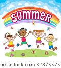 彩虹 孩子 喜悅 32875575