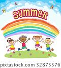 彩虹 孩子 喜悅 32875576