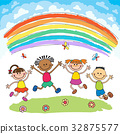 向量 向量圖 彩虹 32875577