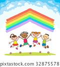 向量 向量圖 彩虹 32875578