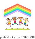 向量 向量圖 彩虹 32875598
