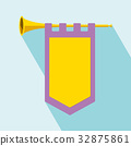Trumpet with flag Icon 32875861