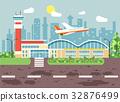 Vector illustration cartoon airport, late delay 32876499