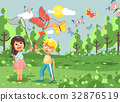 Vector illustration cartoon character two children 32876519