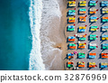Aerial view of lying woman on the beach 32876969