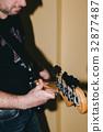 Bass guitar in selective focus 32877487