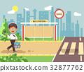 Vector illustration cartoon characters child 32877762